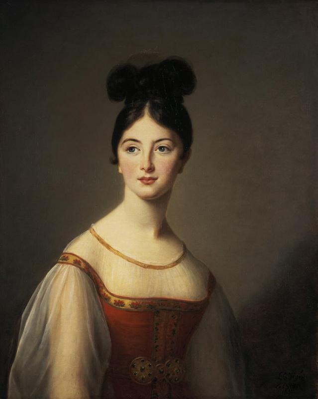Elizabeth Vigee Le Brun. Female portrait (Leontina de Riviera)