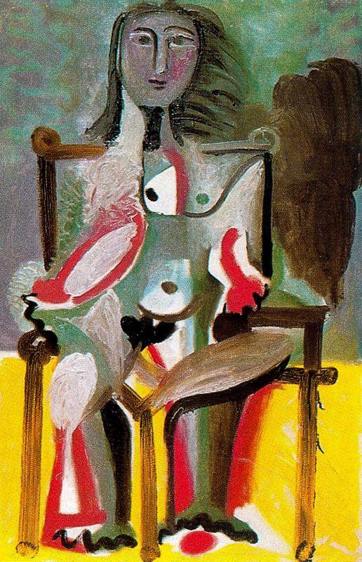 Пабло Пикассо. Обнаженная, сидящая в кресле