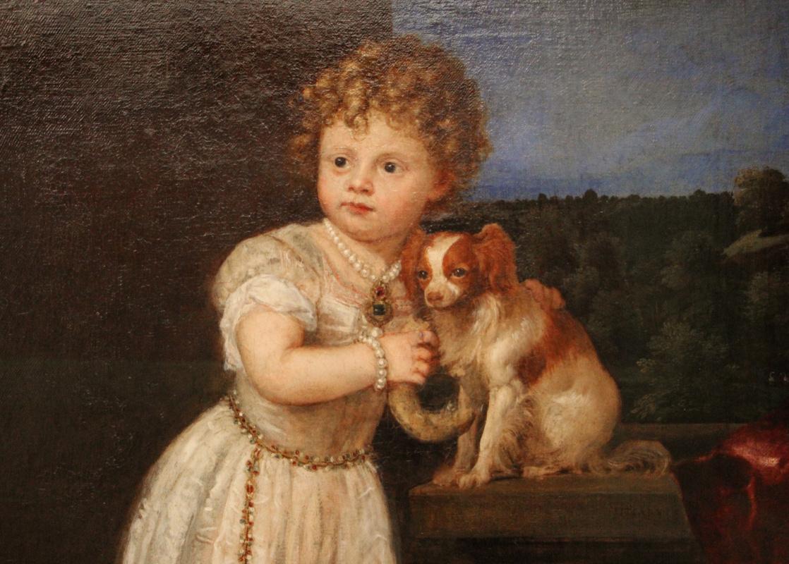 Тициан Вечеллио. Портрет Клариссы Строцци, дочери Роберто Строцци. Фрагмент