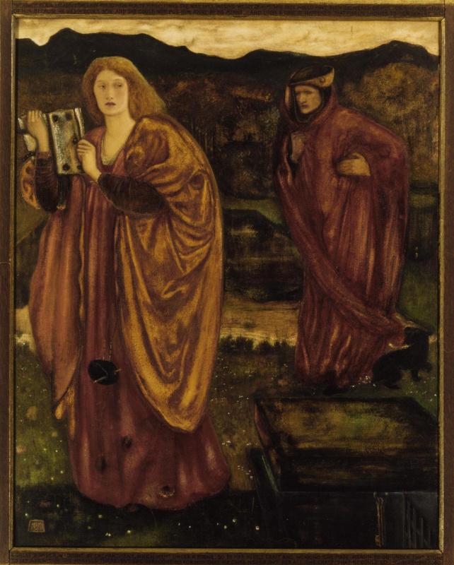 Edward Coley Burne-Jones. Merlin and Nimue