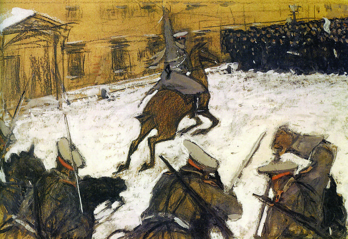 Valentin Aleksandrovich Serov. Soldiers, Bravo lads, where is your glory?