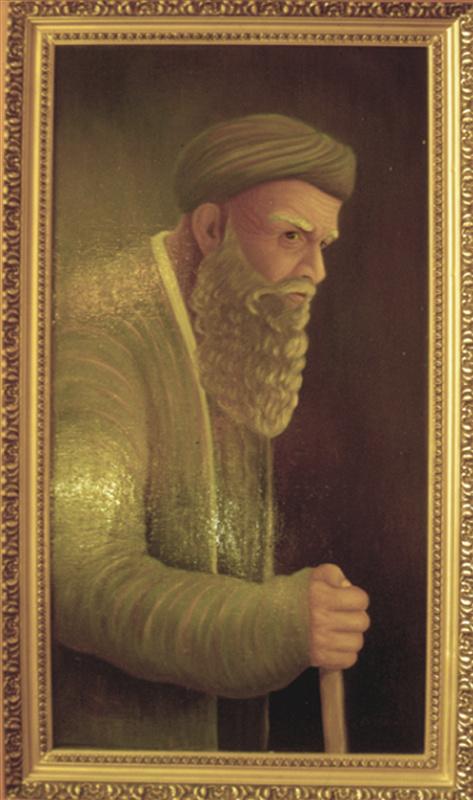 Vladimir Pavlovich Parkin. Портрет старика-таджика с палочкой