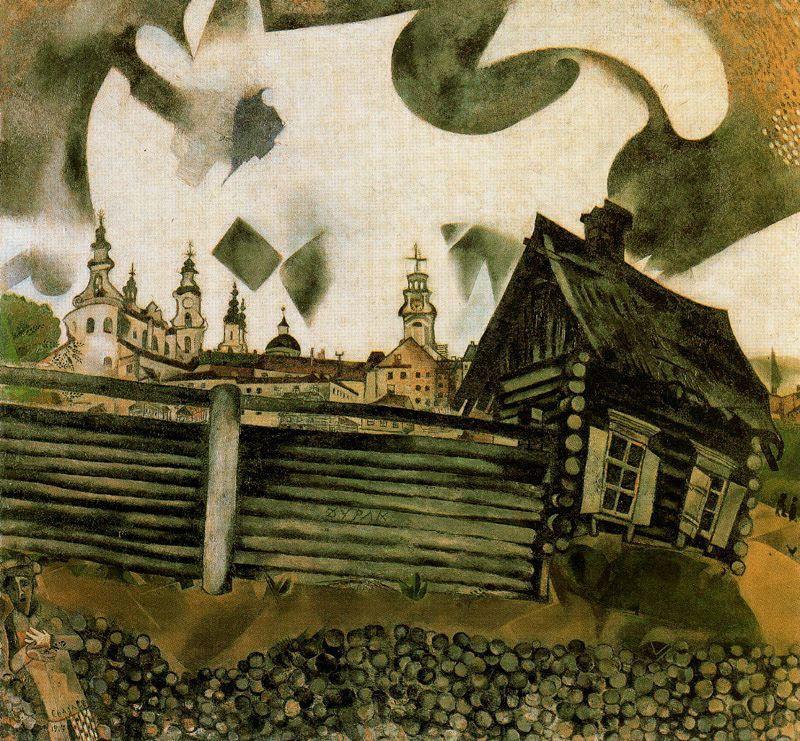 Marc Chagall. The gray house. Vitebsk