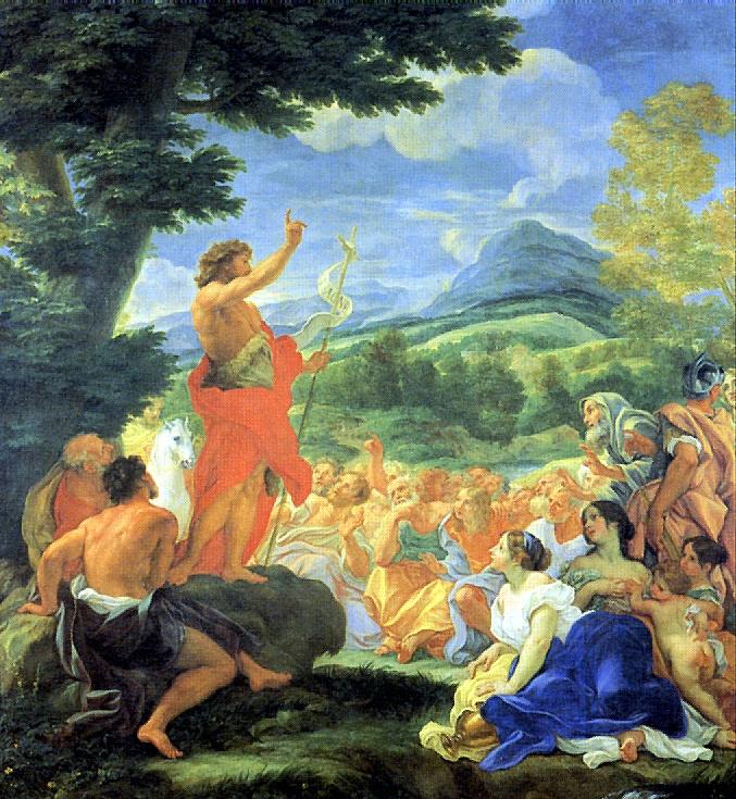 Джованни Баттиста Гаулли. Проповедь Иоанна Крестителя