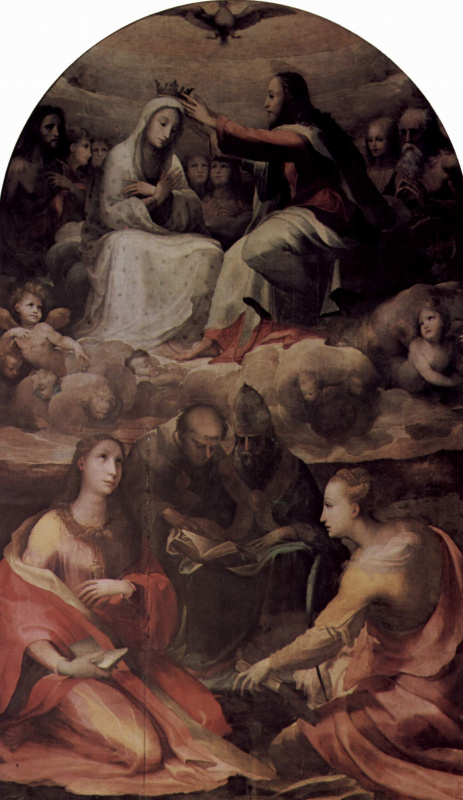 Domenico Beccafumi. The coronation of Mary with saints