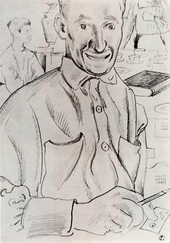 Мстислав Валерьянович Добужинский. Портрет Г. С. Верейского