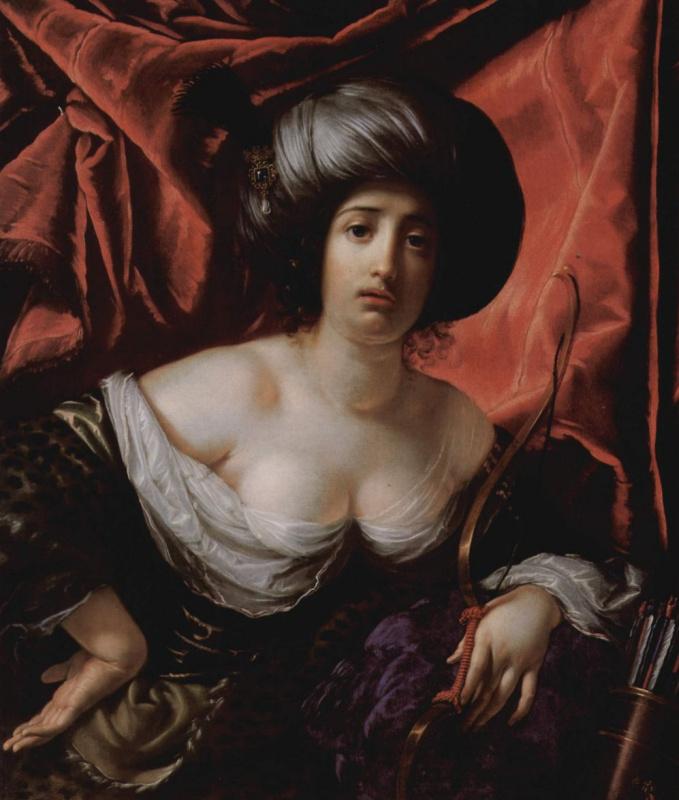 Чезаре Дандини. Портрет дамы в виде Дианы