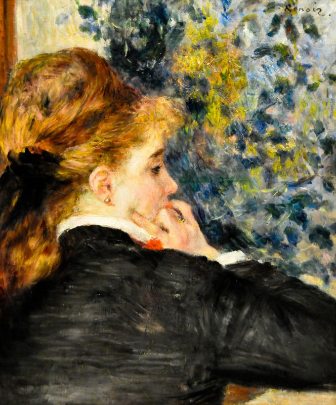 Brooding, or a Young woman in profile