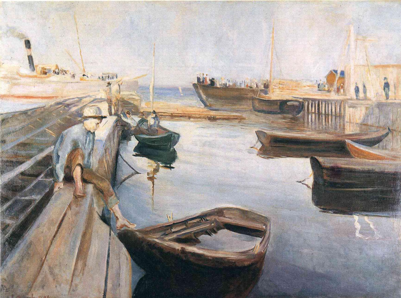 Эдвард Мунк. Прибытие почтовой лодки