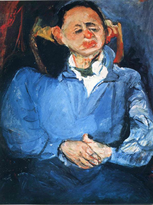 Хаим Соломонович Сутин. Мужчина в голубом пиджаке