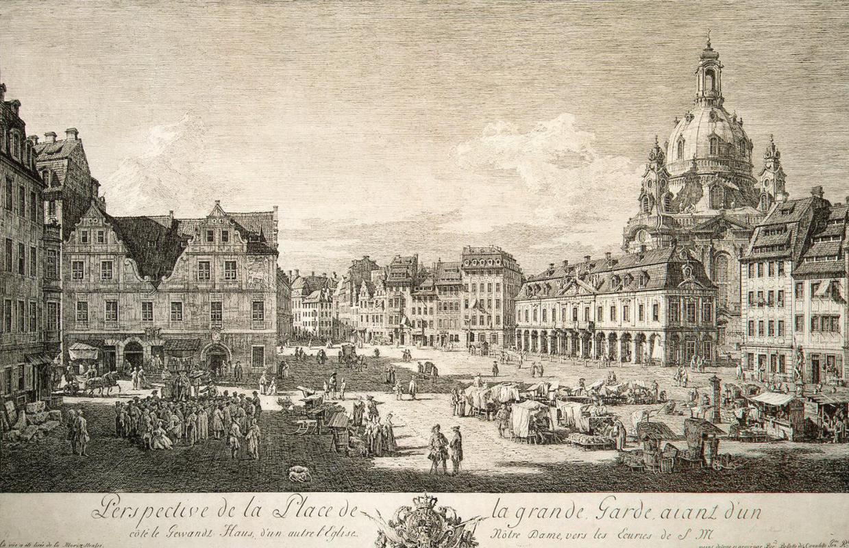 Бернардо Беллотто. Новый рынок в Дрездене