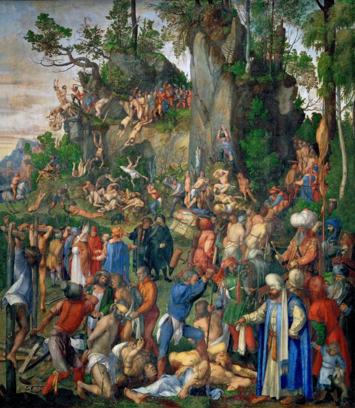 Albrecht Dürer. Martyrdom of the Ten Thousand