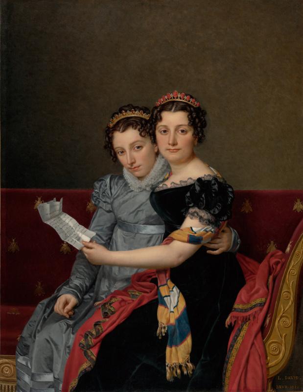 Jacques-Louis David. Sisters Zenaide and Charlotte Bonaparte