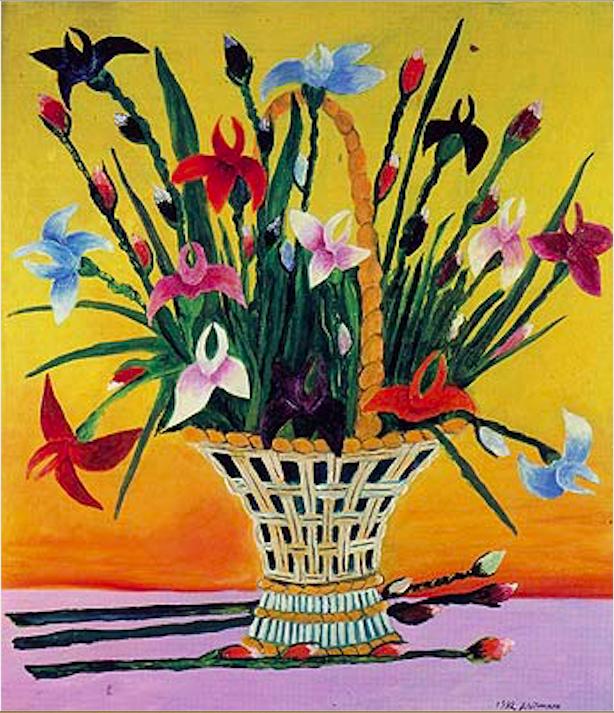 Vasily Vasilyevich Grigoryev. Irises in a basket