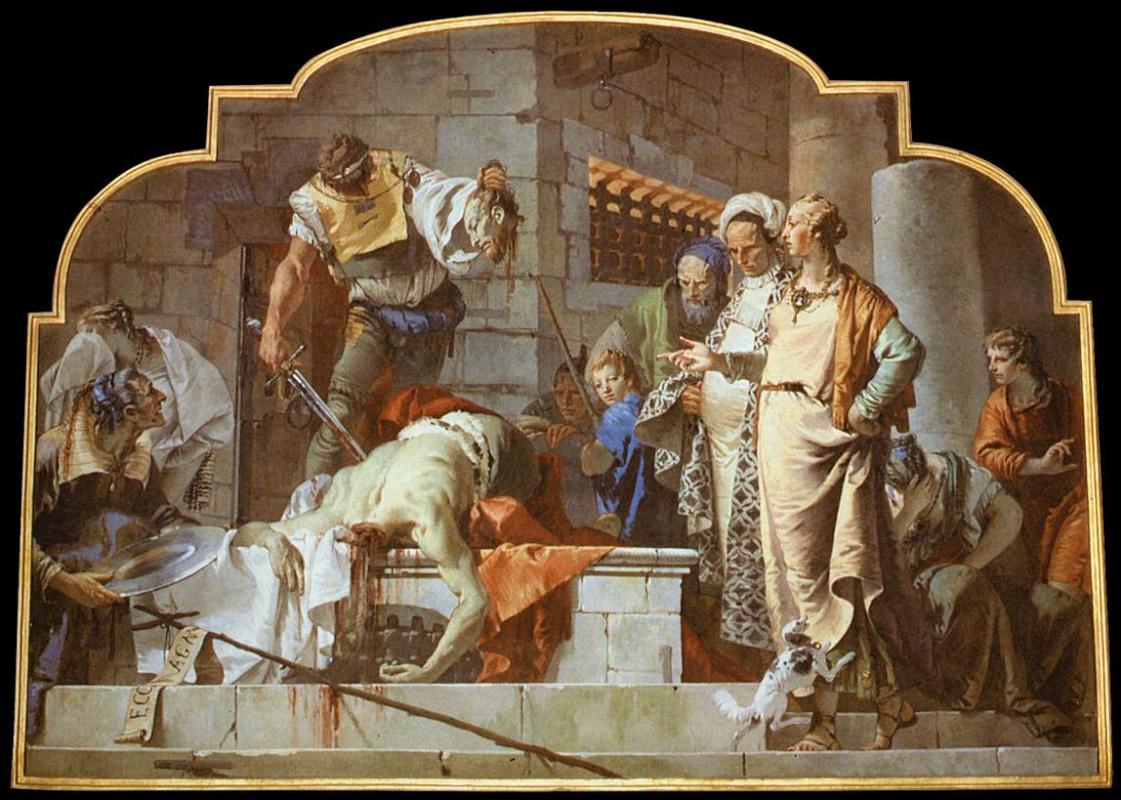 Джованни Баттиста Тьеполо. Усекновение главы Иоанна Крестителя