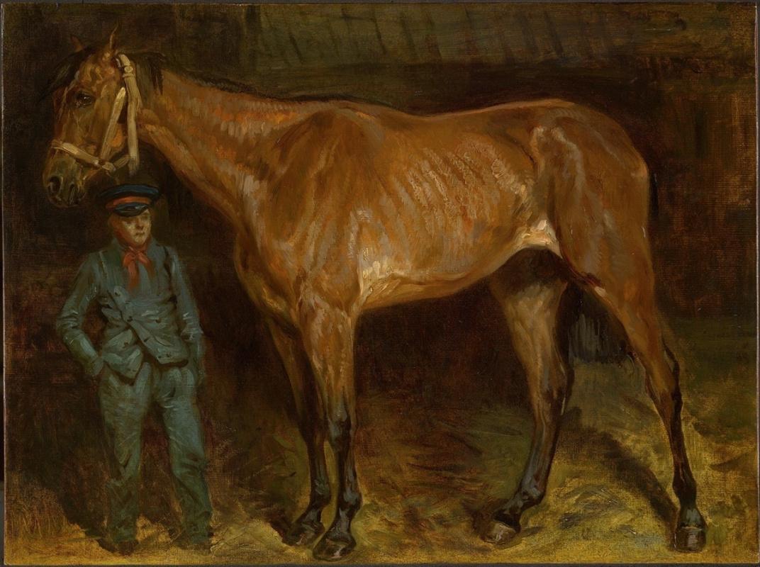 Теодор Жерико. Старая Марэ и ее конюх