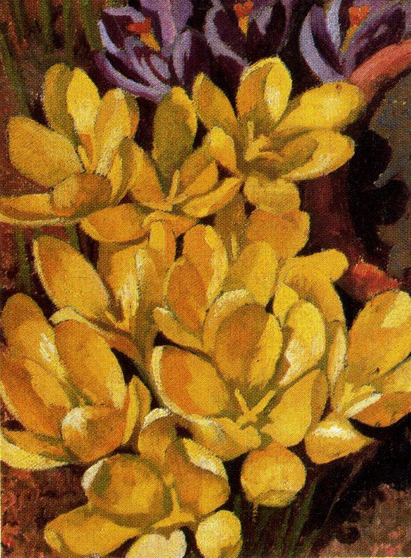 Stanley Spencer. Yellow flowers