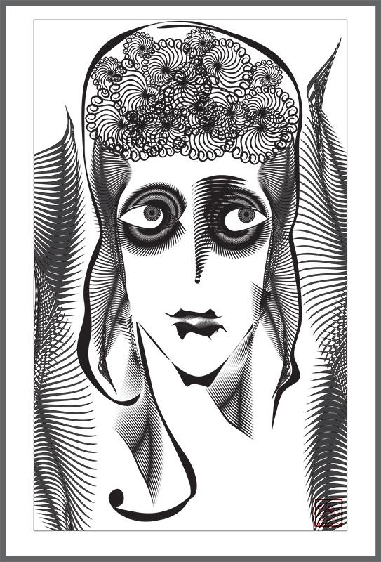 Oleg Denginov. Portrait of a Lady