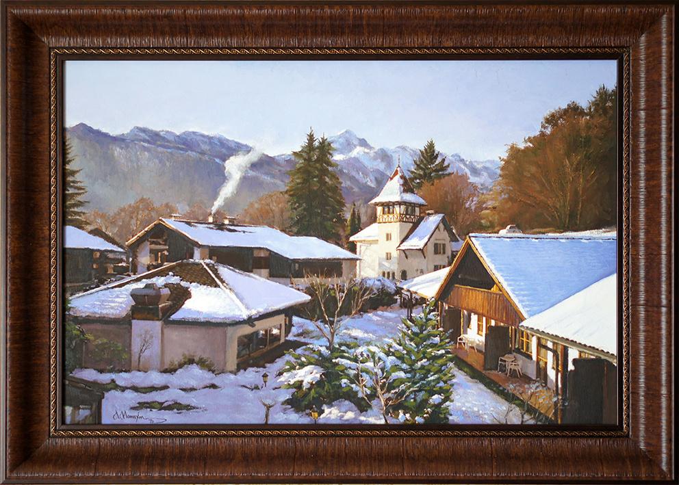 Alexander Matyukhin. Fabulous Garmisch-Partenkirchen. Bavaria (oil on canvas 40x60 cm)