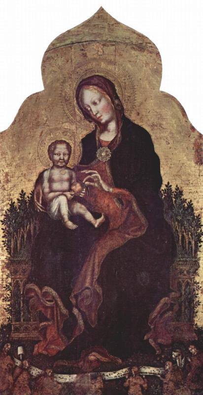 Джентиле да Фабриано. Мадонна с ангелами