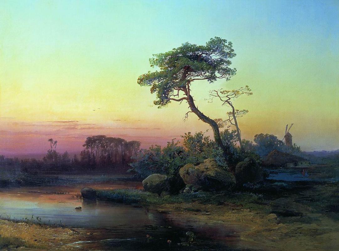 Алексей Кондратьевич Саврасов. Пейзаж с сосной