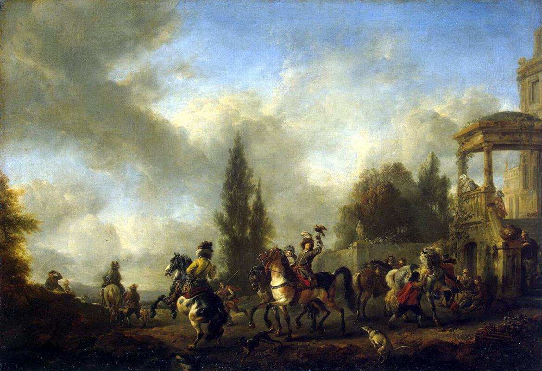 Филипс Вауверман (Воуверман). Отправление на охоту
