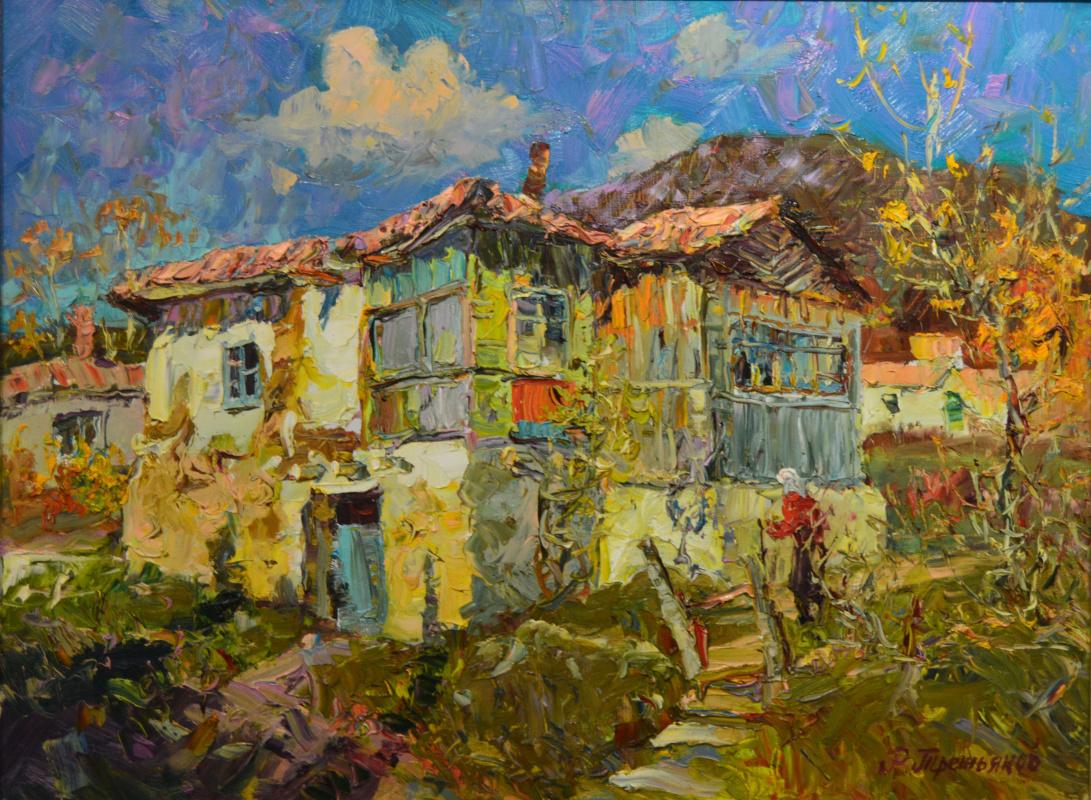 Roman Tretyakov. Old house,sun