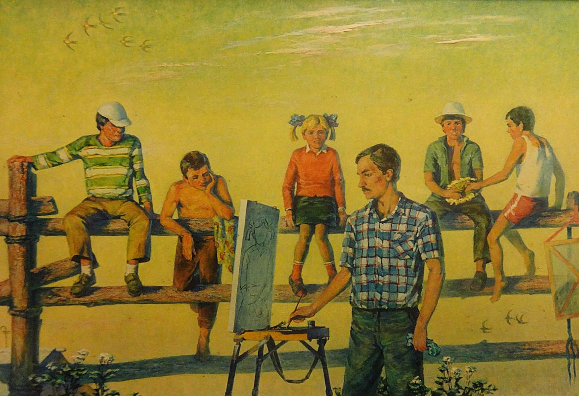 "Valery Petrovich Erofeevsky. ""My workshop"", 2003, oil on canvas, 87x127"