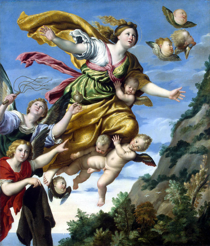 Доменикино . Взятие Марии Магдалины на небо