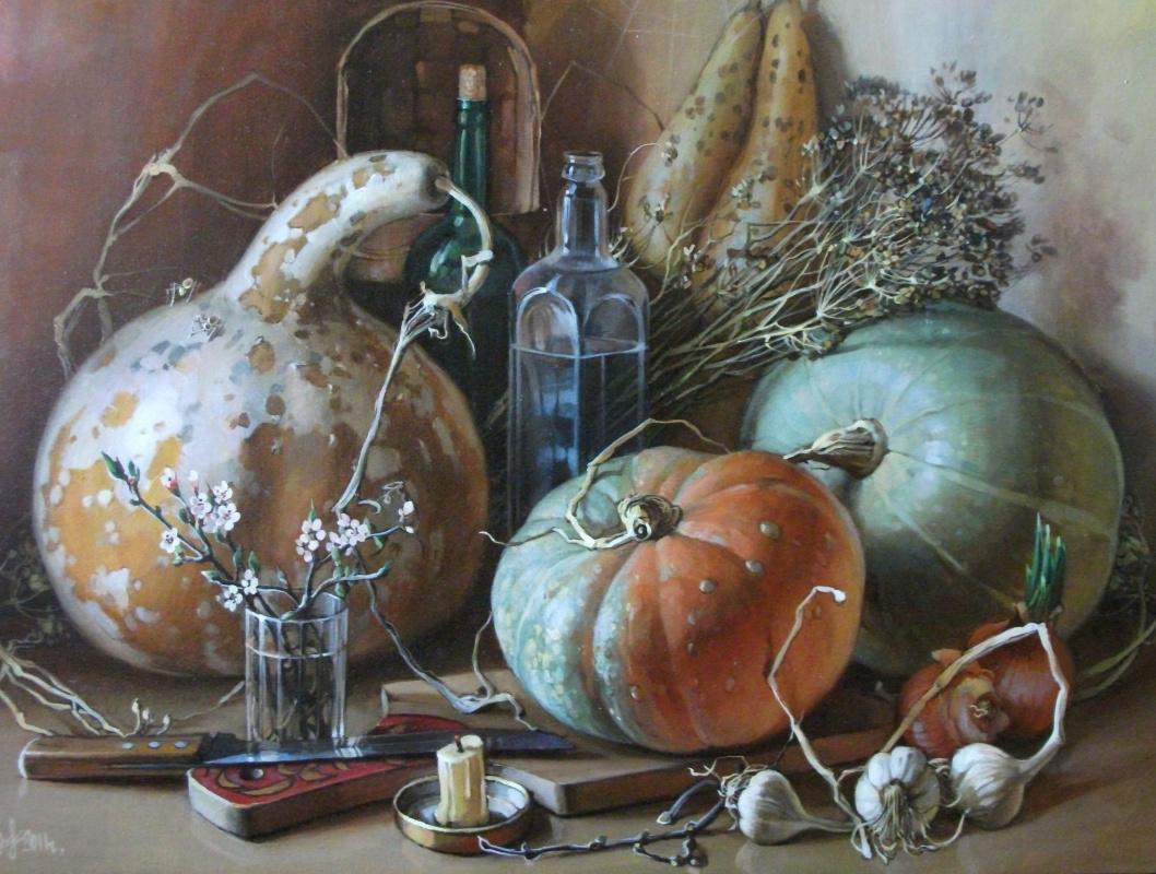 Sergey Anatolevich Bondaryuk. Still life with pumpkins