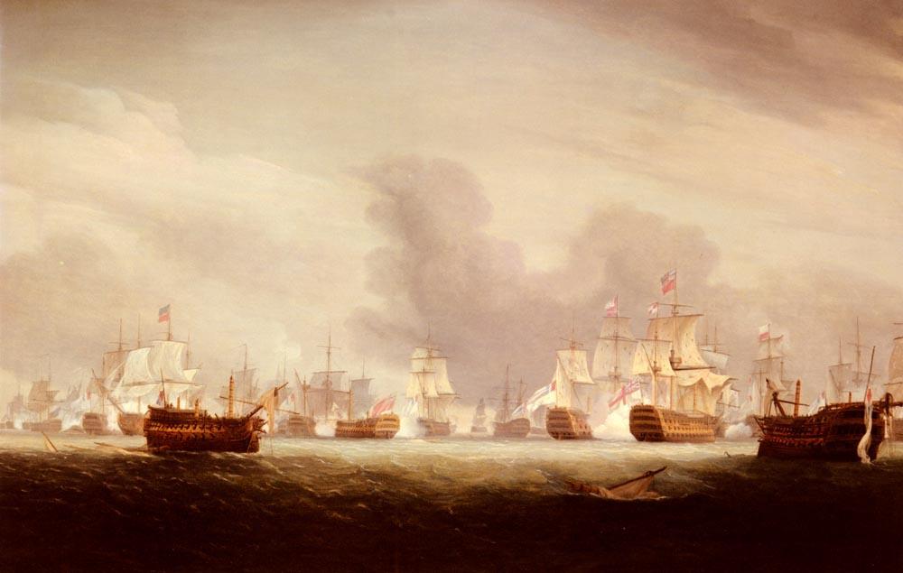 Thomas Whitcombe. Battle