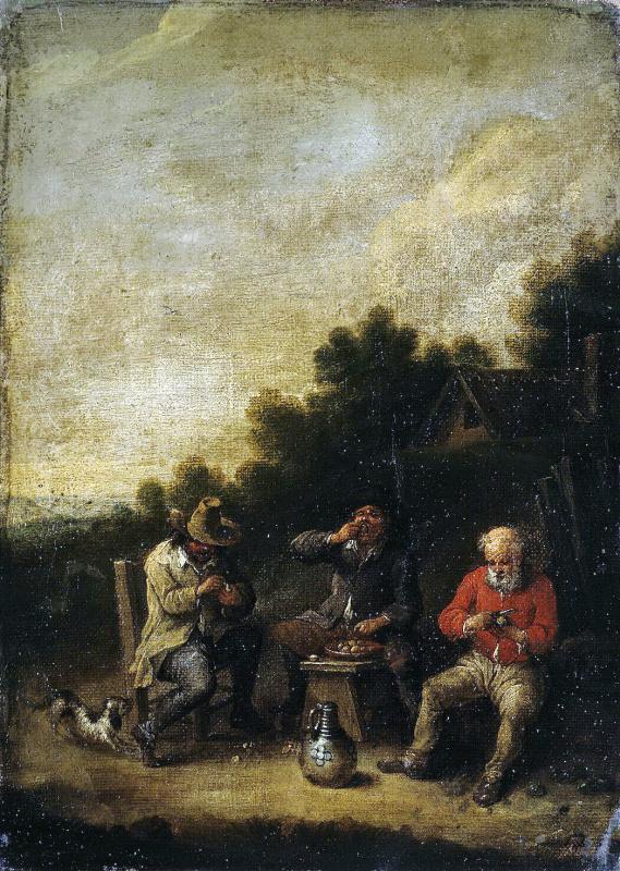 Peter Baut. Farmers around the tavern