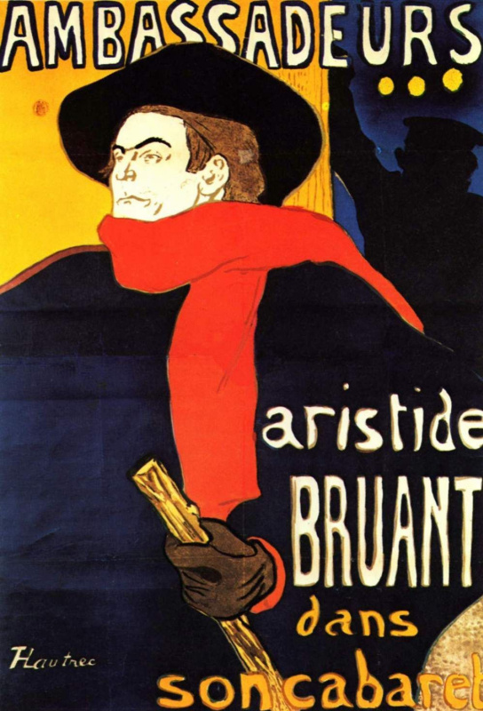 "Henri de Toulouse-Lautrec. Aristide He in ""Ambassador"""