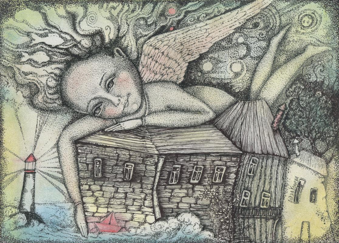 Olyona Ivanovna Koneva. Swim to the light. Print