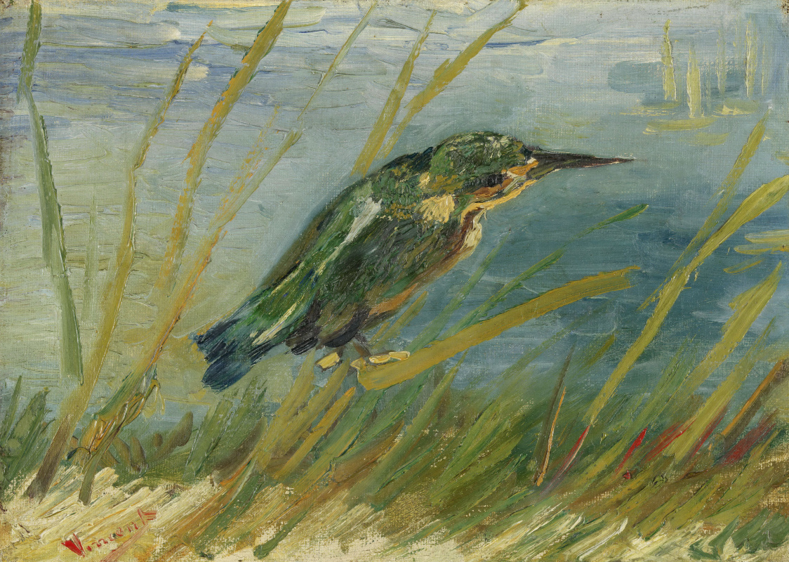 Vincent van Gogh. Kingfisher by the water