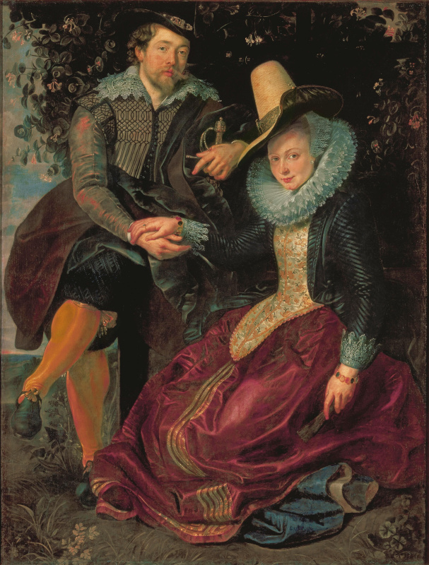 Peter Paul Rubens. Self Portrait with Isabella Brant