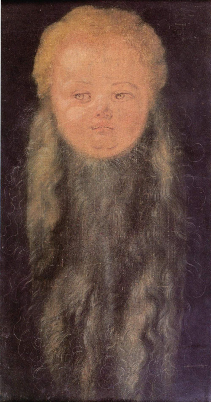 Голова бородатого младенца