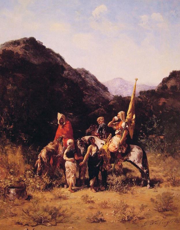Джордж Вашингтон Уистлер. Всадники в горах