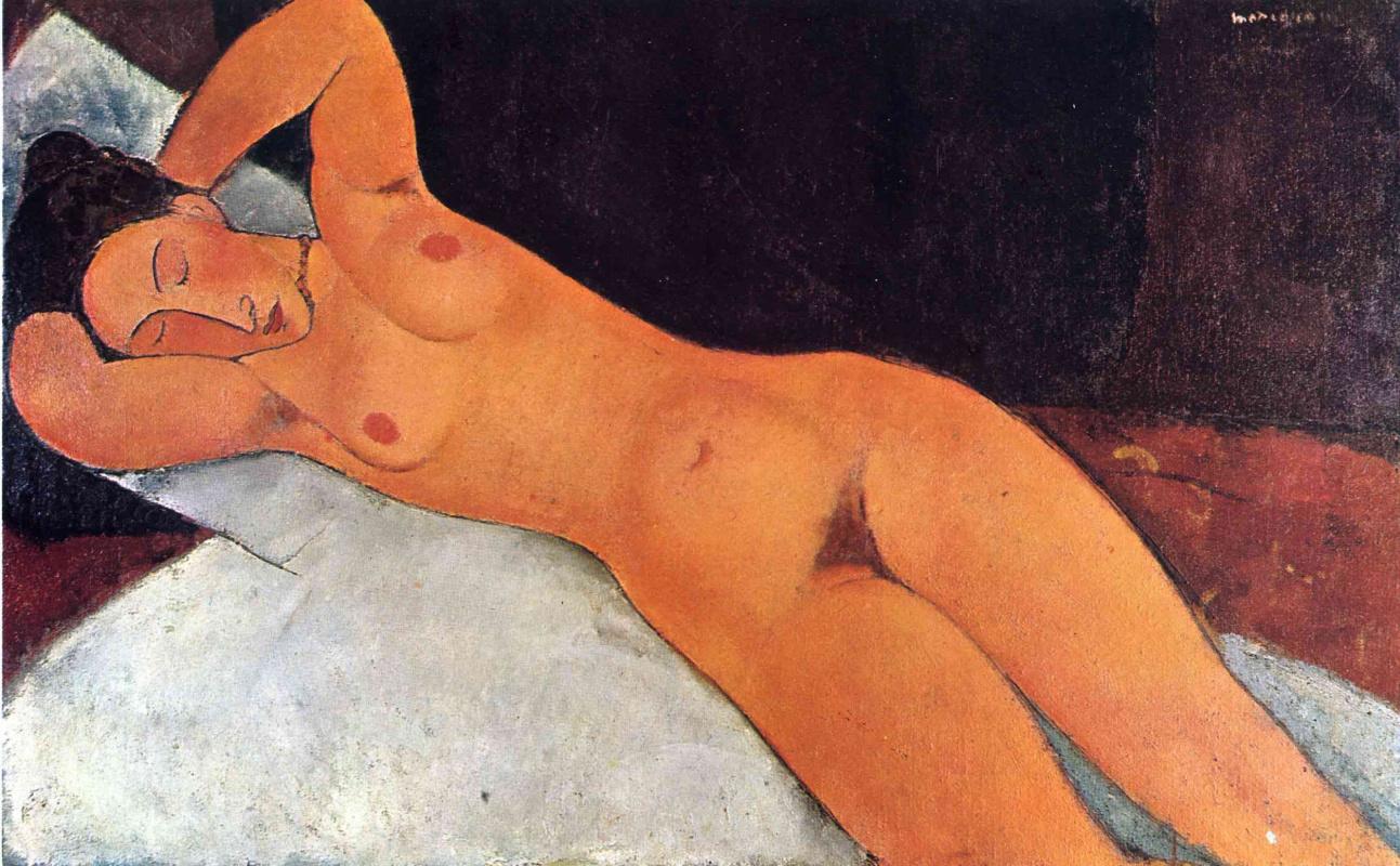 Амедео Модильяни. Крепкий сон обнаженной женщины