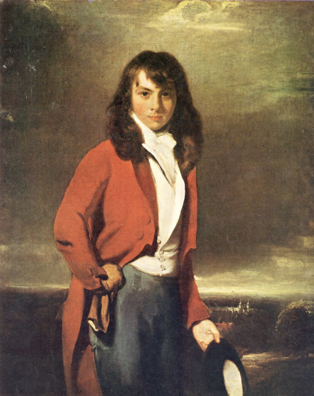 Thomas Lawrence. Portrait of Arthur Atherly in the dress of a graduate of Eton College