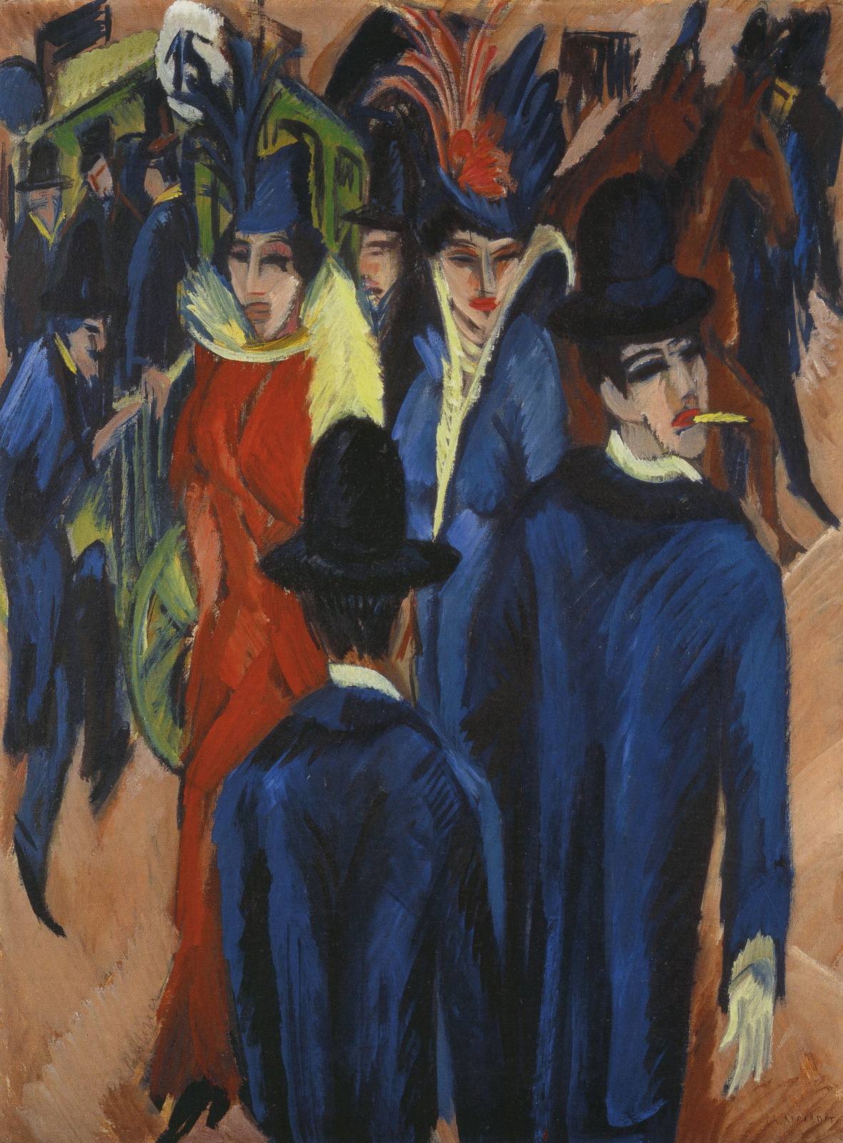 Ernst Ludwig Kirchner. Street scene in Berlin