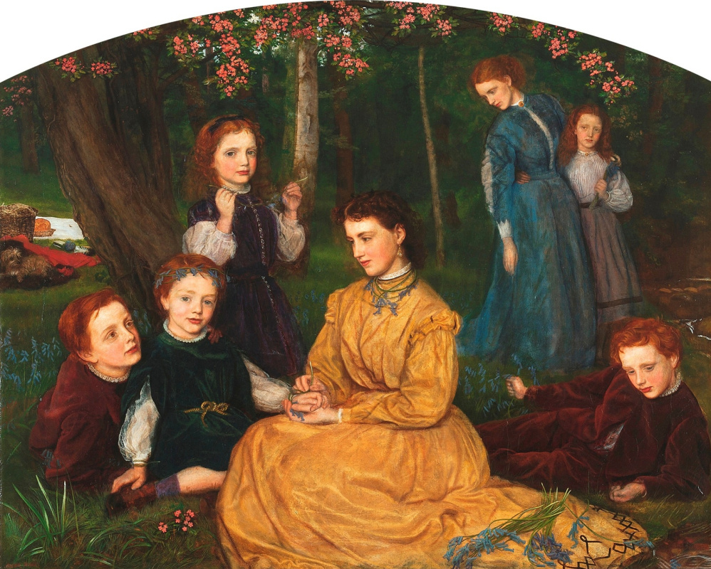 Arthur Hughes. Birthday picnic Children of William and Ann Pattison