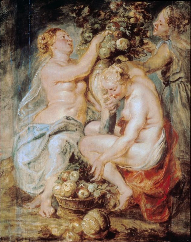 Three Nymphs with the Horn of Plenty