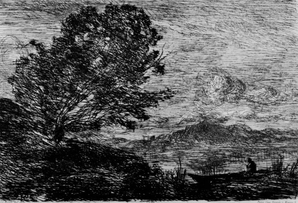 Камиль Коро. Озеро в Тироле