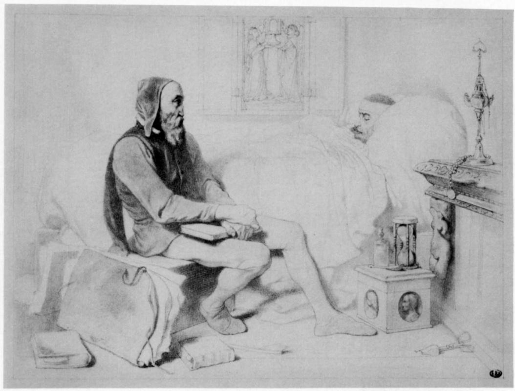 Жозеф Никола Робер-Флёри. Состарившийся Микеланджело у постели своего больного помощника