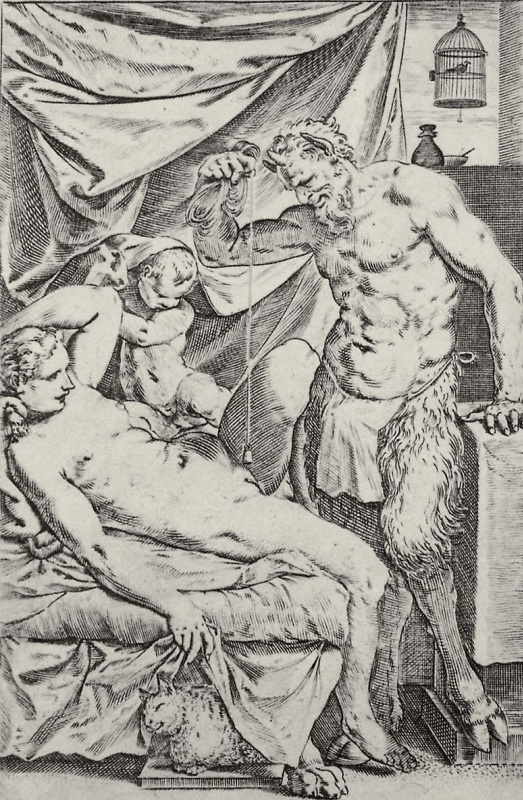 """Agostino Carracci. The series of """"Sensuality"""", the So-called """"House of satire"""""""