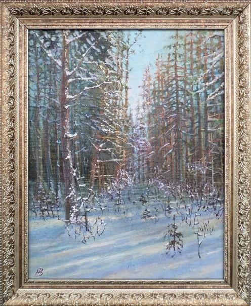 "Natalia Vladimirovna Sinitsyna. ""Palewski Bor in winter"""