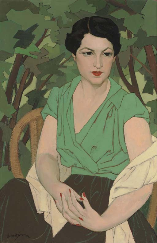 Henri Clement-Servo. Female portrait