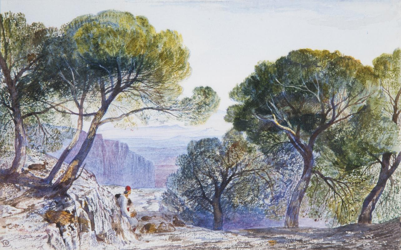 Edward Lear. Attica, Greece