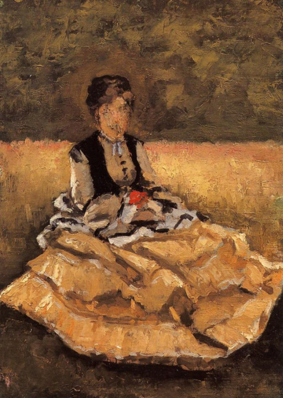 Gustave Caillebotte. Woman sitting on the grass